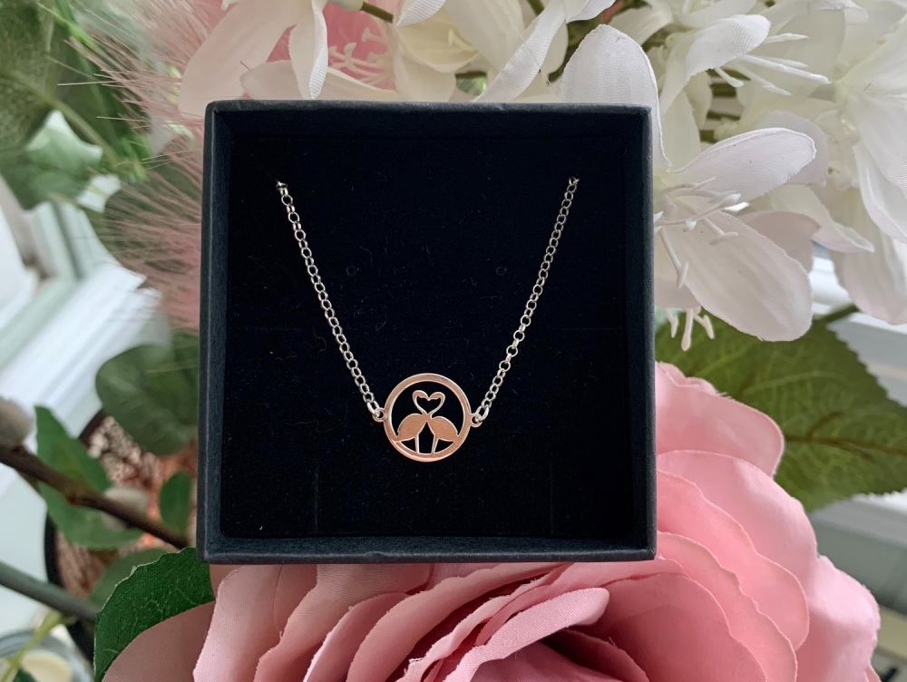 Flamingo Sterling Silver Necklace