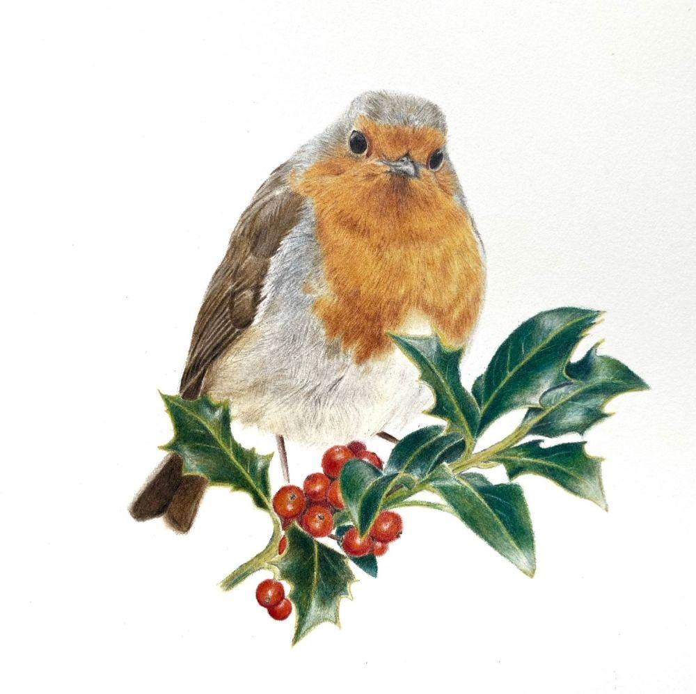 'Festive Robin' Limited Edition Print