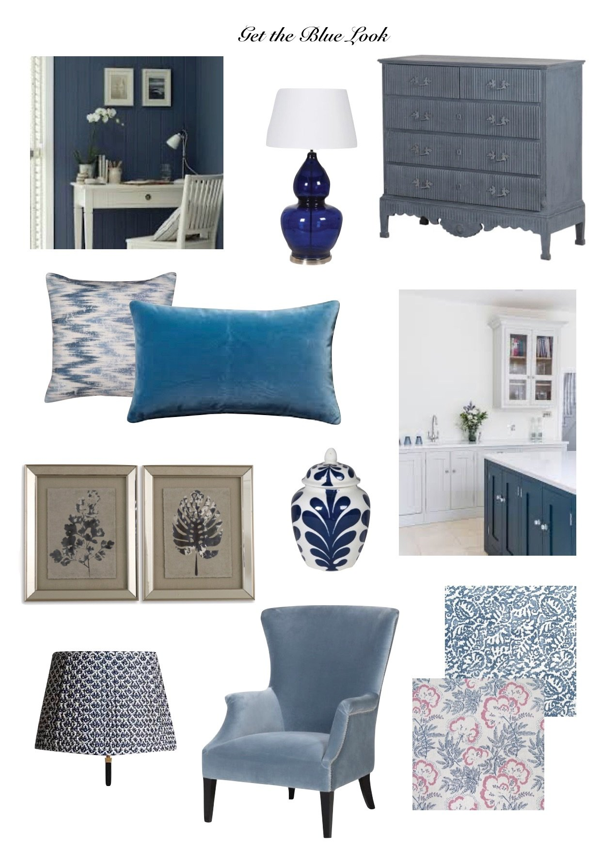 get the blue look,the colour of 2020,add shades  of blue to the  home