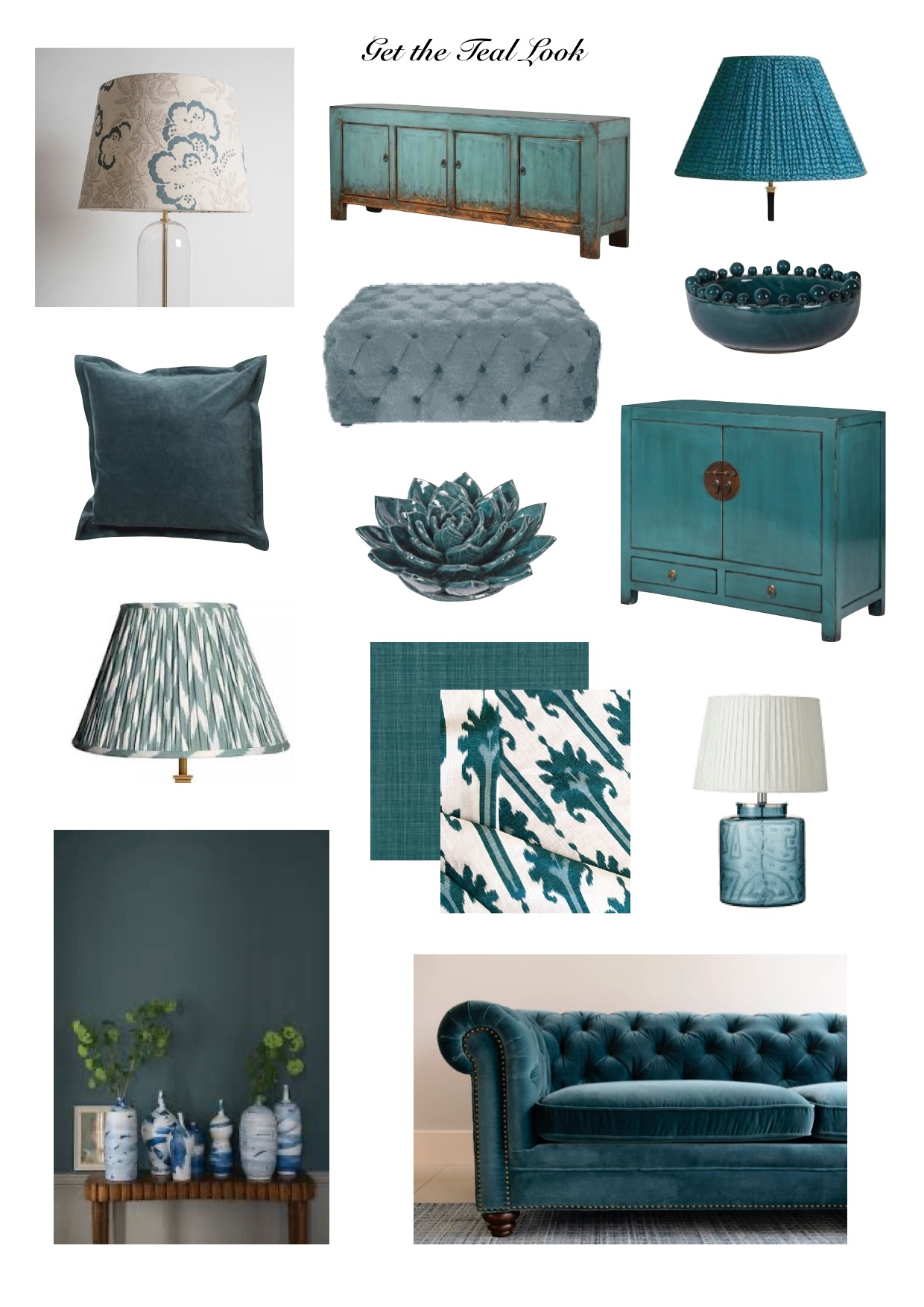 Get the teal look,dramatic interior colour,add drama to an interior