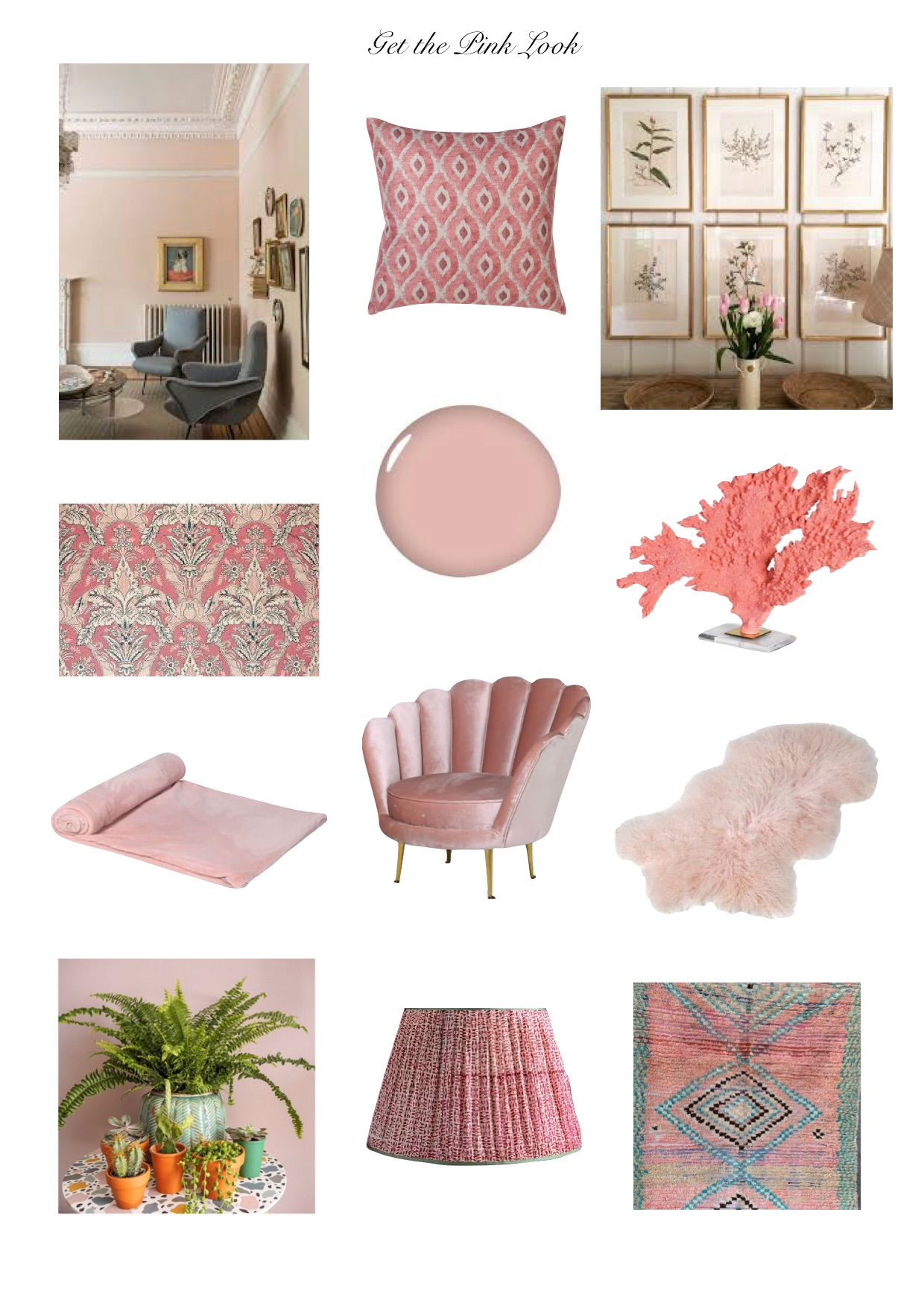 get the pink look,pink interiors,blush interior trend,interior colour colours 2019