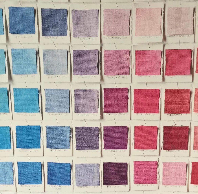 colour charts,dyed fabric colour palette,