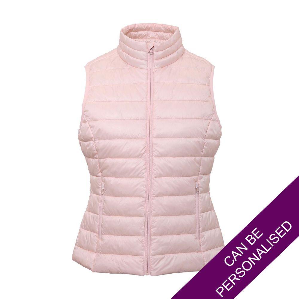 Light Pink Terrain Padded Bodywarmer