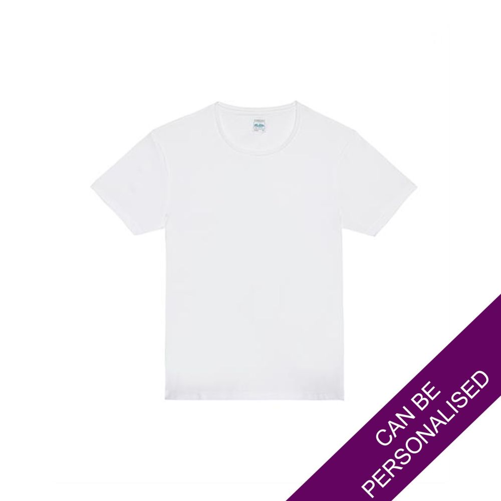 White Polyester T-Shirt