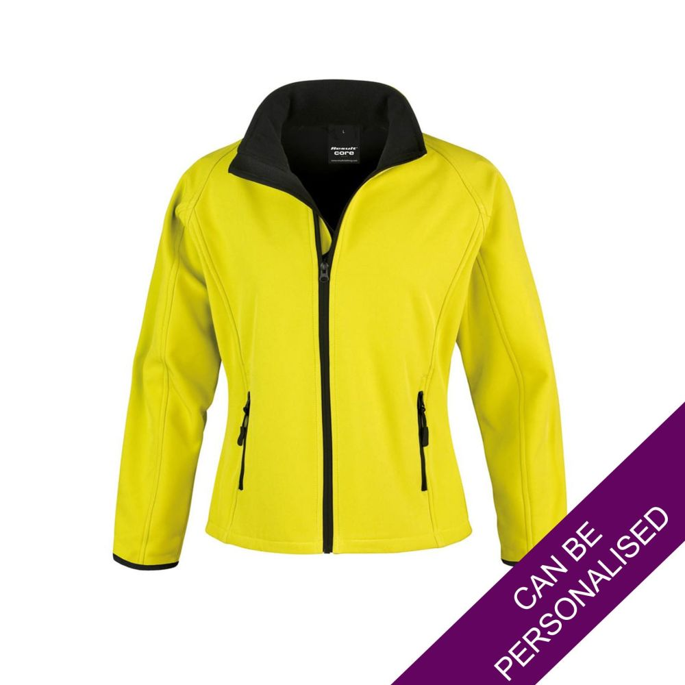Yellow Soft Shell Jacket