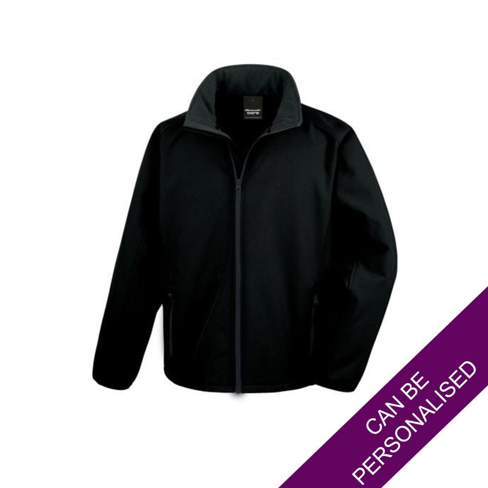 Men's Hair Resistant Soft Shell Jacket - Black