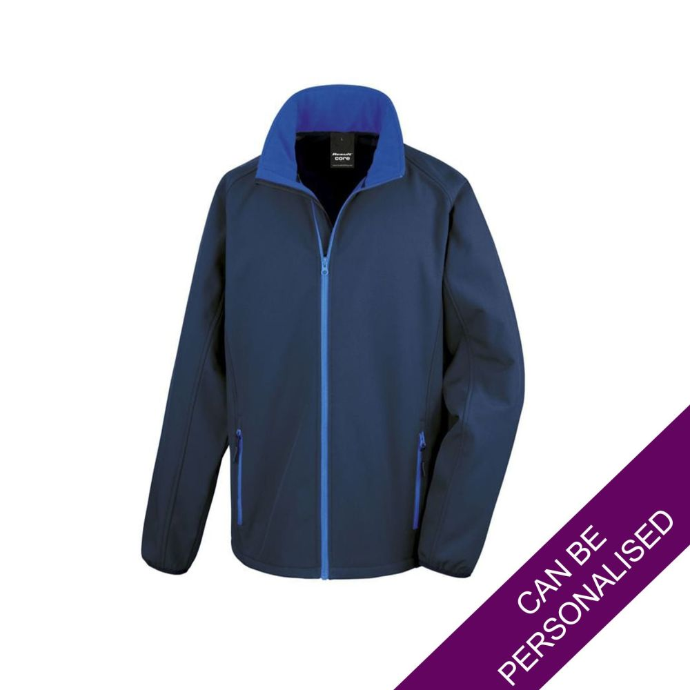 Men's Hair Resistant Soft Shell Jacket - Navy & Royal Blue