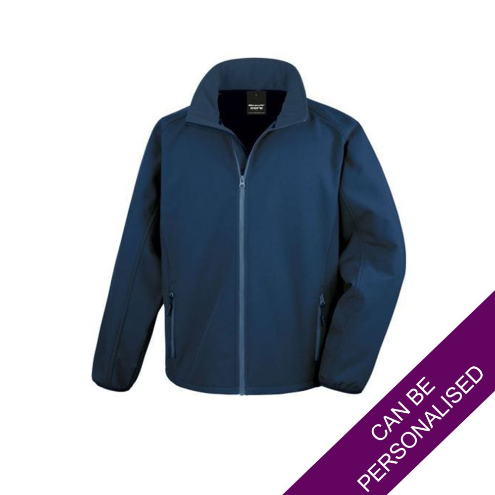 Men's Hair Resistant Soft Shell Jacket - Navy