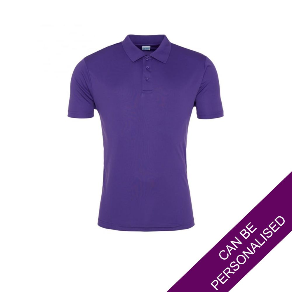 Men's Hair Resistant Polo Shirt - Purple