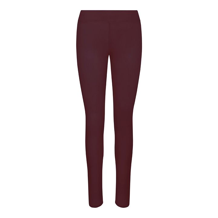 Women's Hair Resistant Leggings - Burgundy