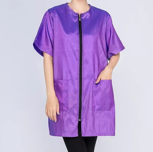 Waterproof & Hair Resistant Dog Grooming Tunic - Purple