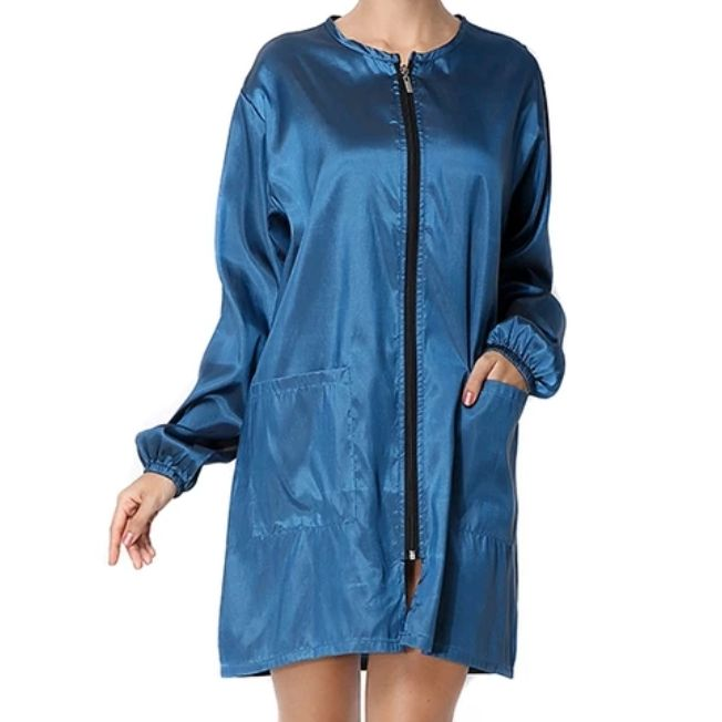 Waterproof & Hair Resistant Dog Grooming Long Sleeves Tunic - Blue