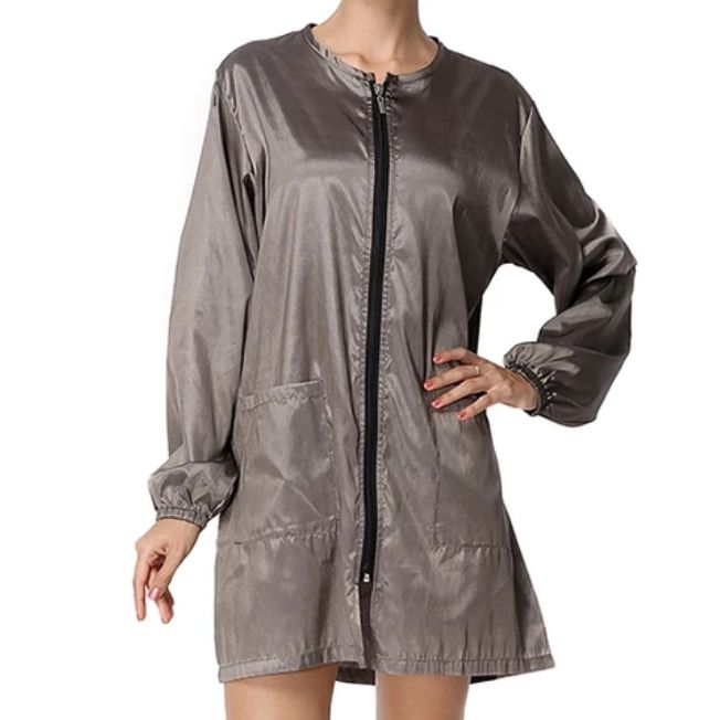 Waterproof & Hair Resistant Dog Grooming Long Sleeves Tunic - Bronze