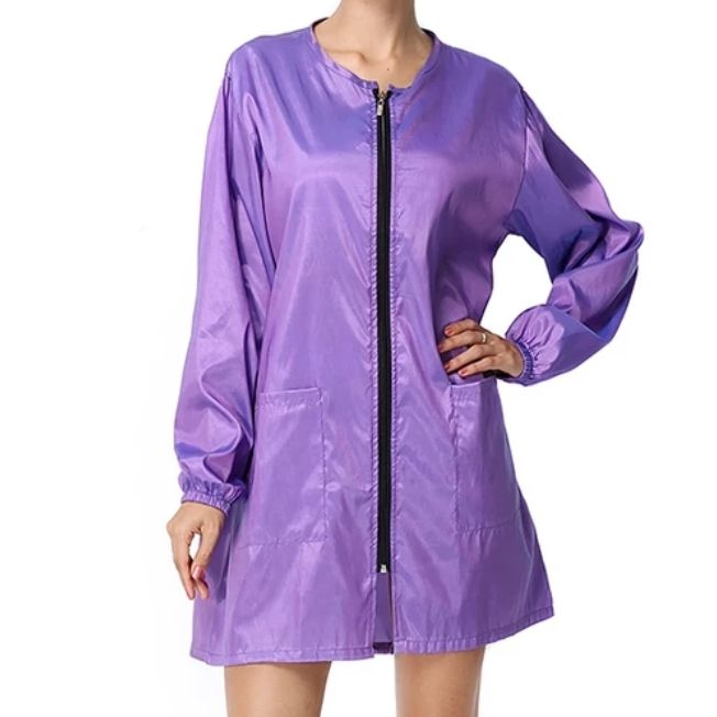 Waterproof & Hair Resistant Dog Grooming Long Sleeves Tunic - Purple