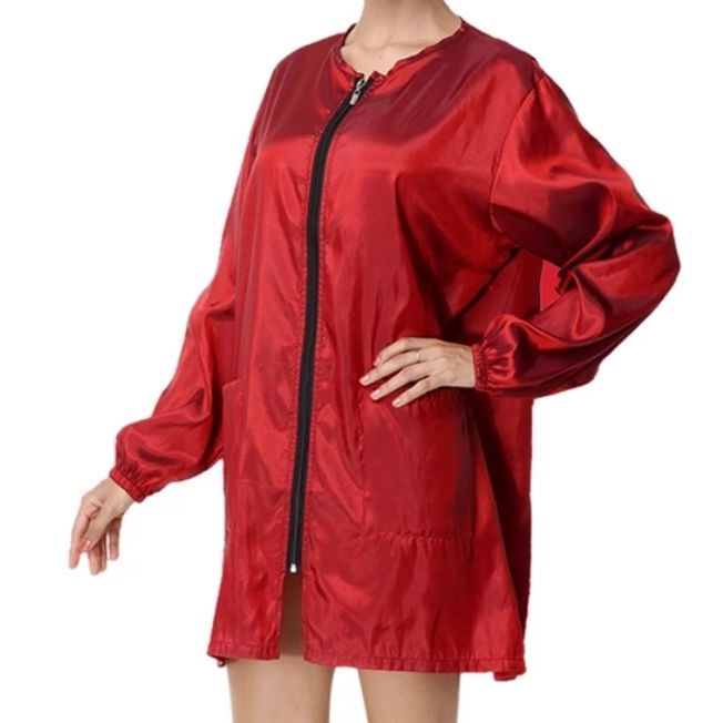 Waterproof & Hair Resistant Dog Grooming Long sleeves Tunic - Red