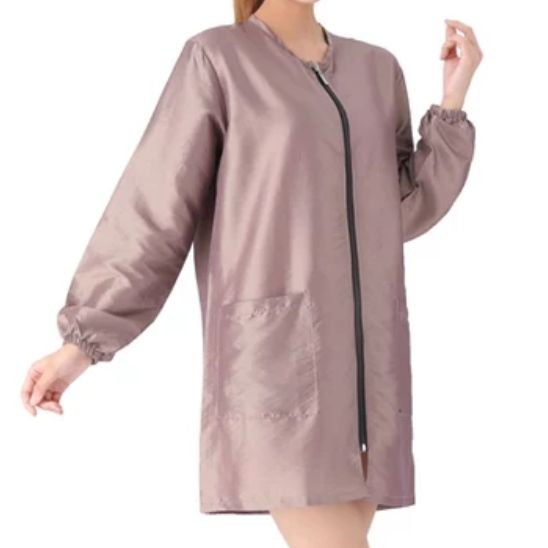 Waterproof & Hair Resistant Dog Grooming Long Sleeves Tunic - Pearlescent Blush Pink