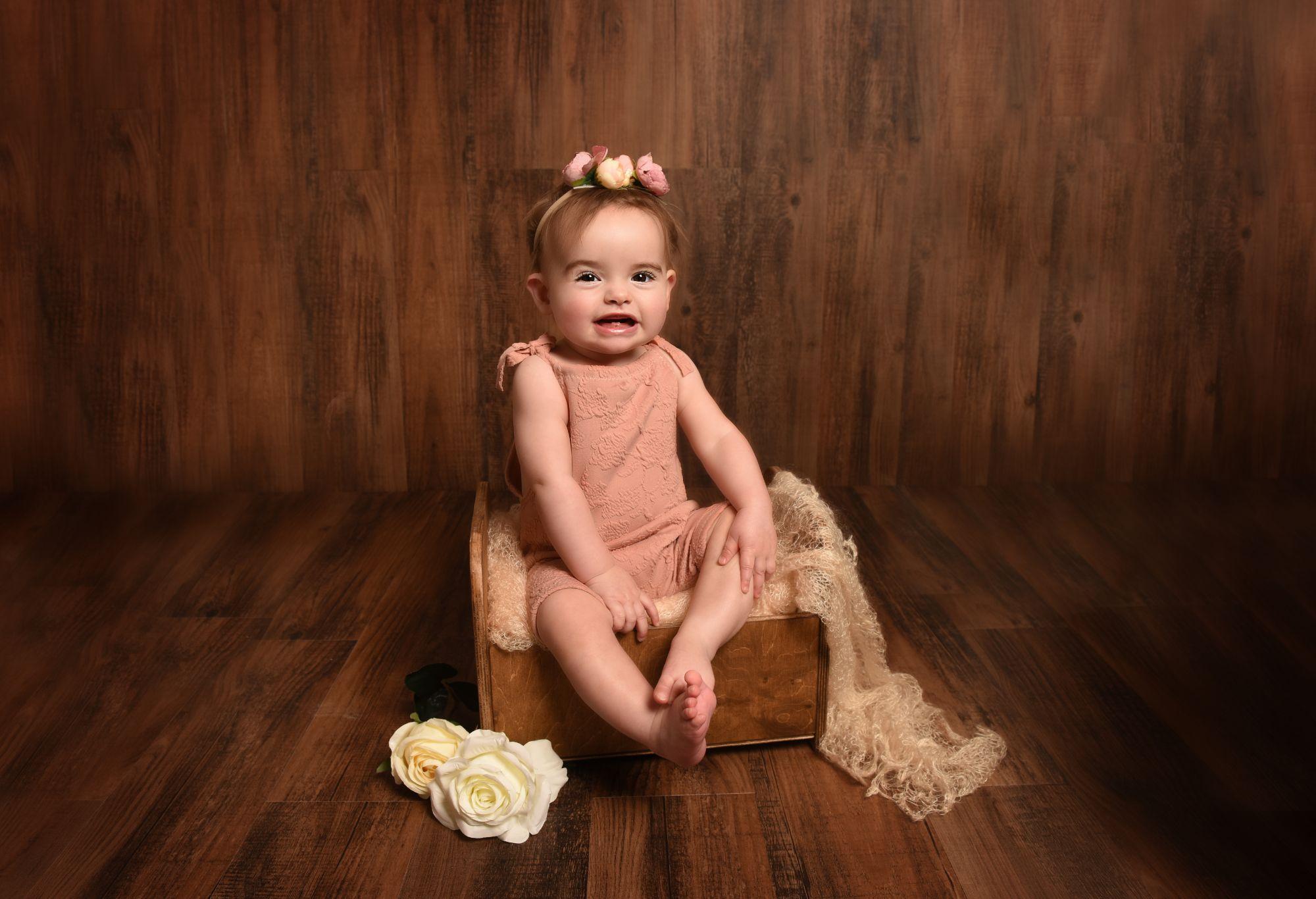 baby milestone photoshoot
