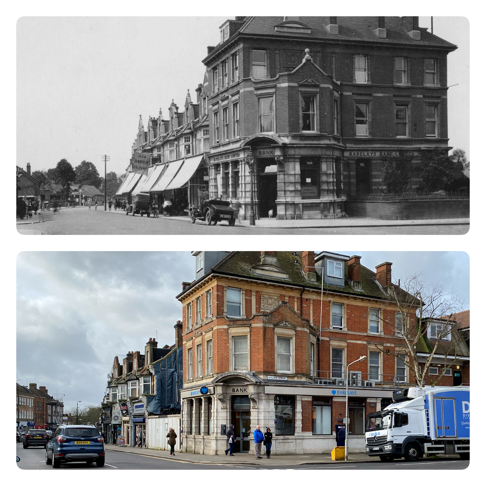 Barclays Bank Then and Now