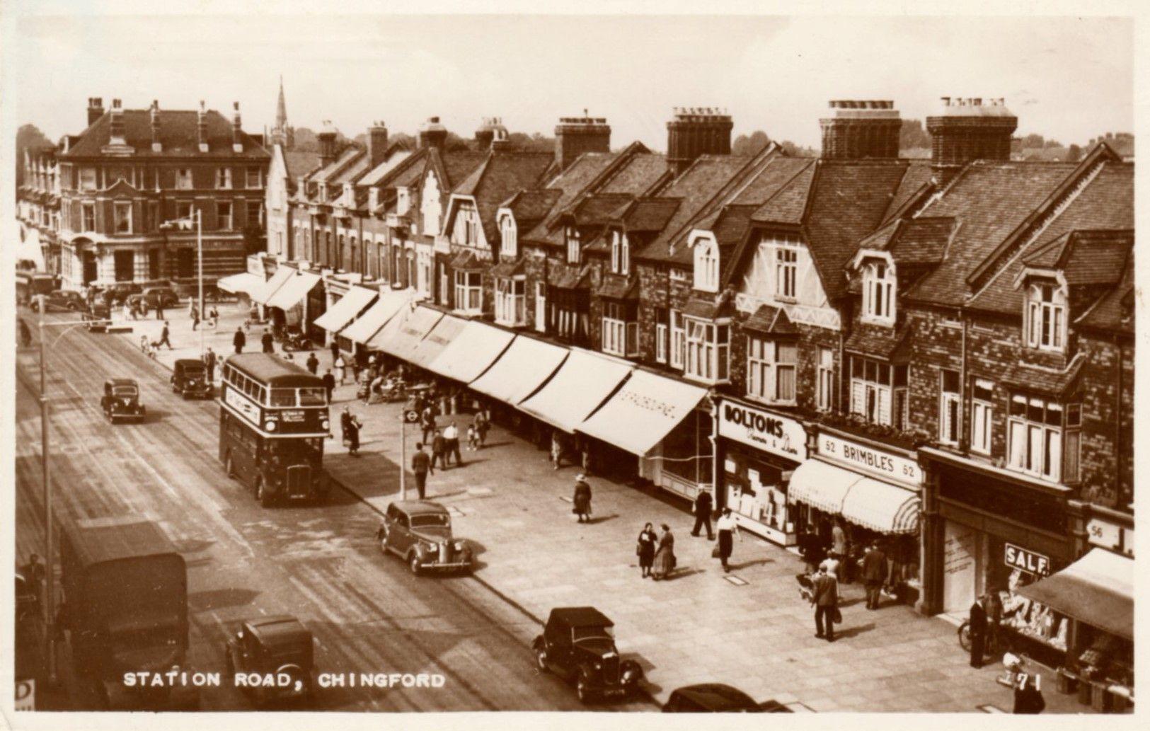 Station Road Brimble 1940's