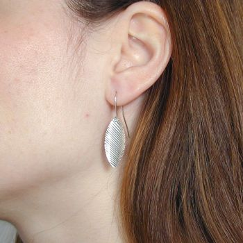 Small silver pendant earrings.  Item EM02