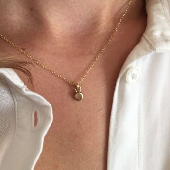 Exquisite Ethical Gold 'Dot' Necklace.  Item DS002