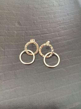 Exquisite Ethical Gold Earrings.  Item DS011