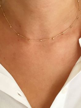 Beautiful Ethical Gold Stardust Necklace.  Item DS016