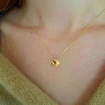 Solid Ethical Gold  Petal' Necklace .  DS029