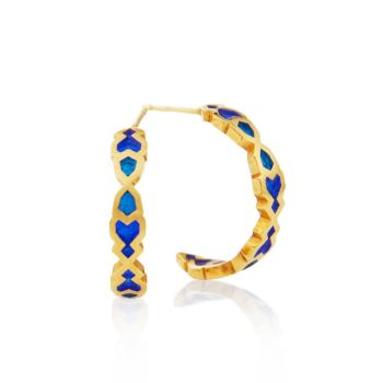 Gold Plated  Vermeil Small Hoop Earrings.  Item MH001