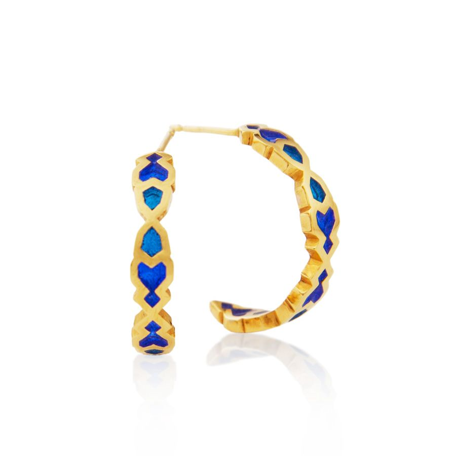 Vermeil  small hoop earrings.  Item MH001
