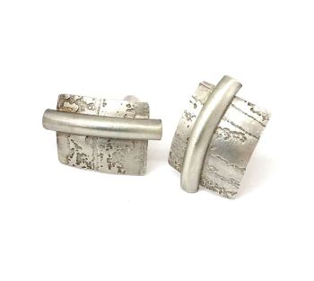 Exceptional Etched Silver Cufflinks.  Item ECT003