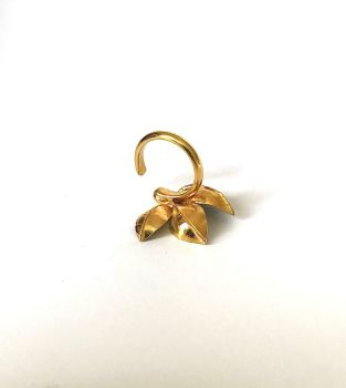 Occasional Ring.  Gold Plated Green Enamel.  Item ECT021