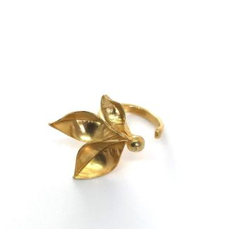 Silver, Gold Plated Occasional Ring.  Item ECT023