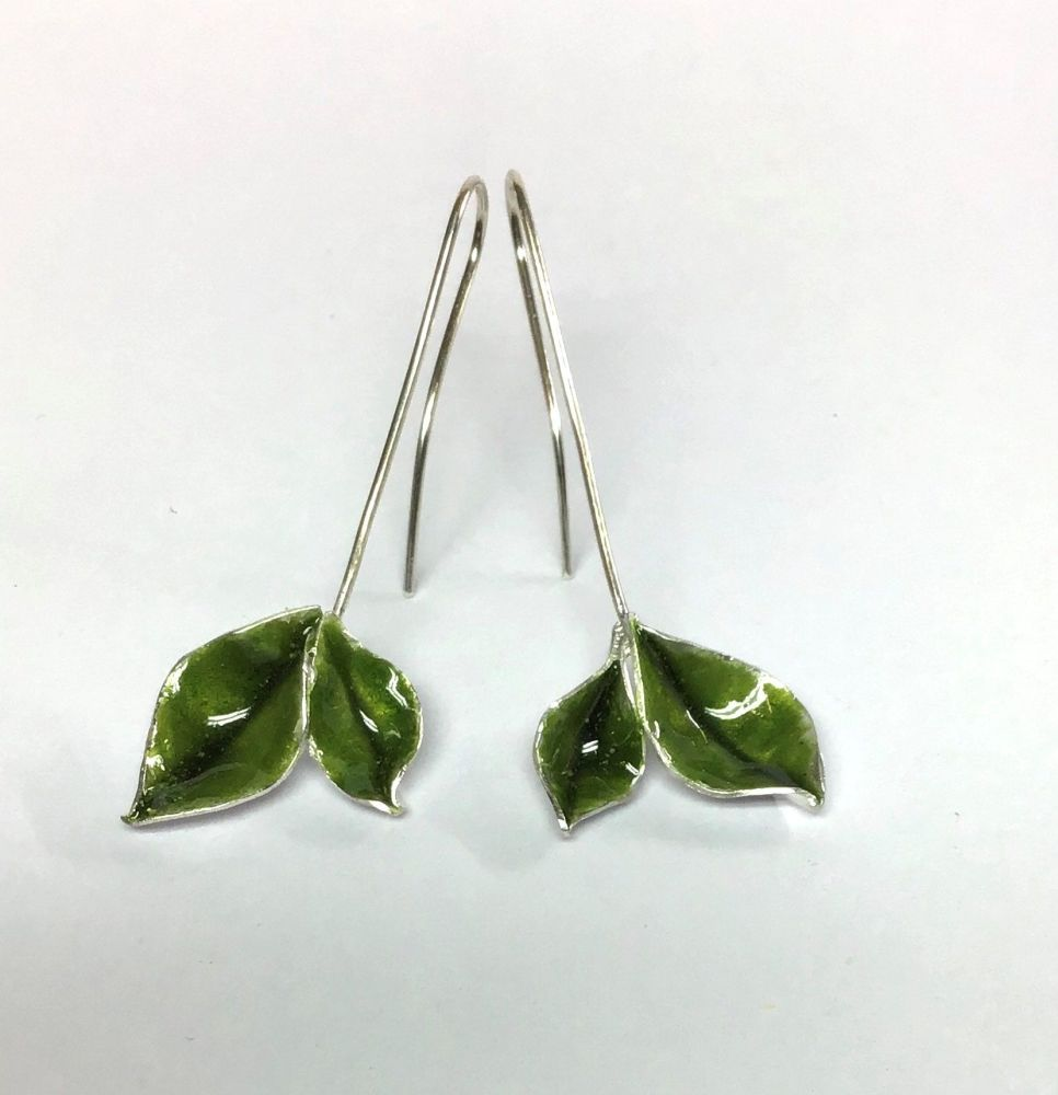 Silver Peridot earrings.  Item ECT025