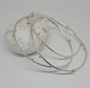 Beautiful Silver or Gold 'Bobble Bangle' Item EL003