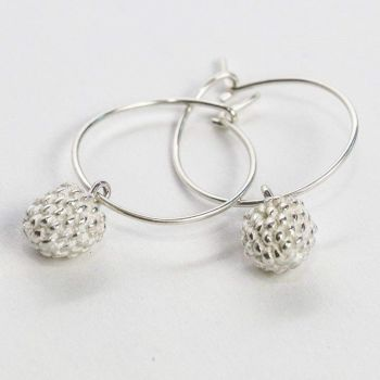 Silver or Gold Plate Blackberry Earrings. Item EL018