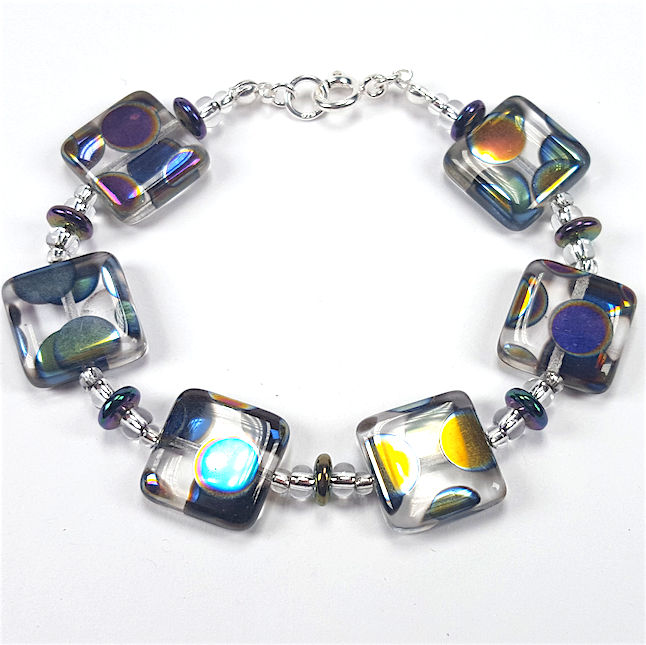 Clear multispot Bracelet.  Item RH0