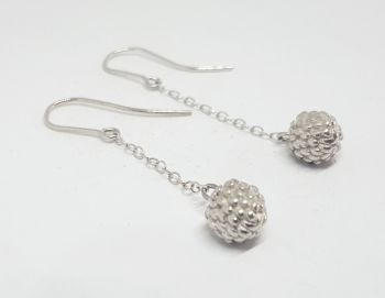 Sterling Silver Blackberry Drop Earrings.   Item EL019