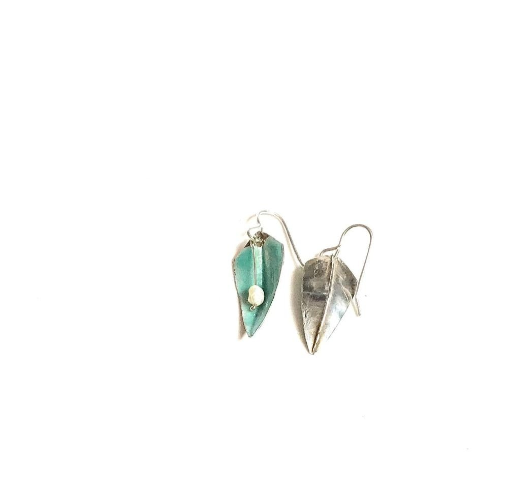 Pale Turquise earrings.  Item ECT 031