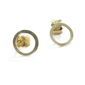 Small Gold Stud Earrings. Item CM001
