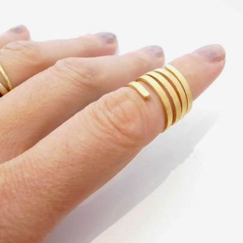 Exquisite Twist and Curl Vermeil Ring. Item CM020