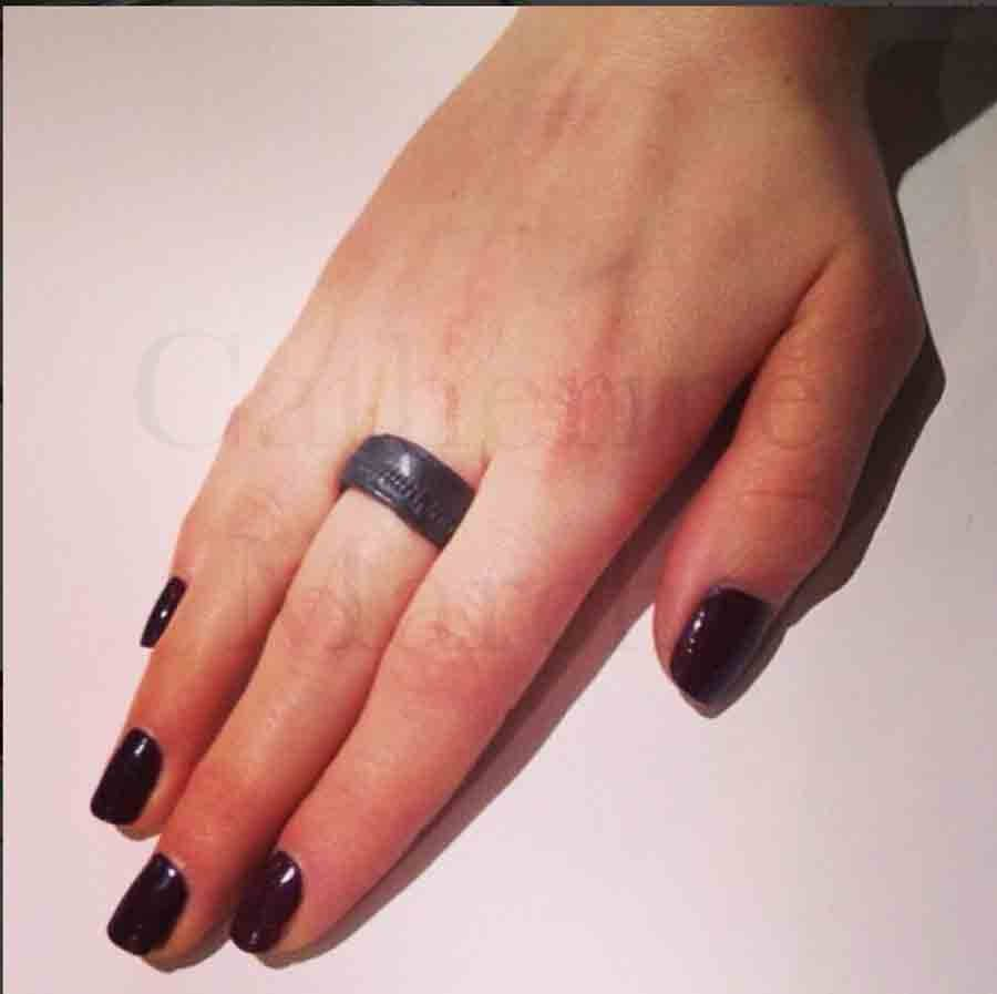Oxidized Silver Hip Ring. Item CM027