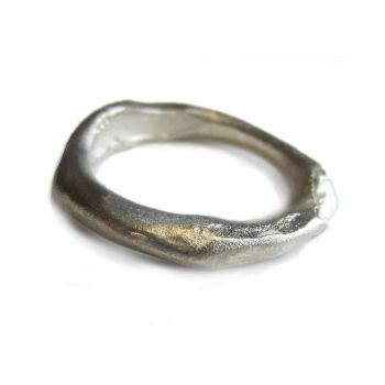 Silver 'Molten' Ring.  Item CM028