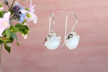 Moonstone Drop Earrings. Item YZ013