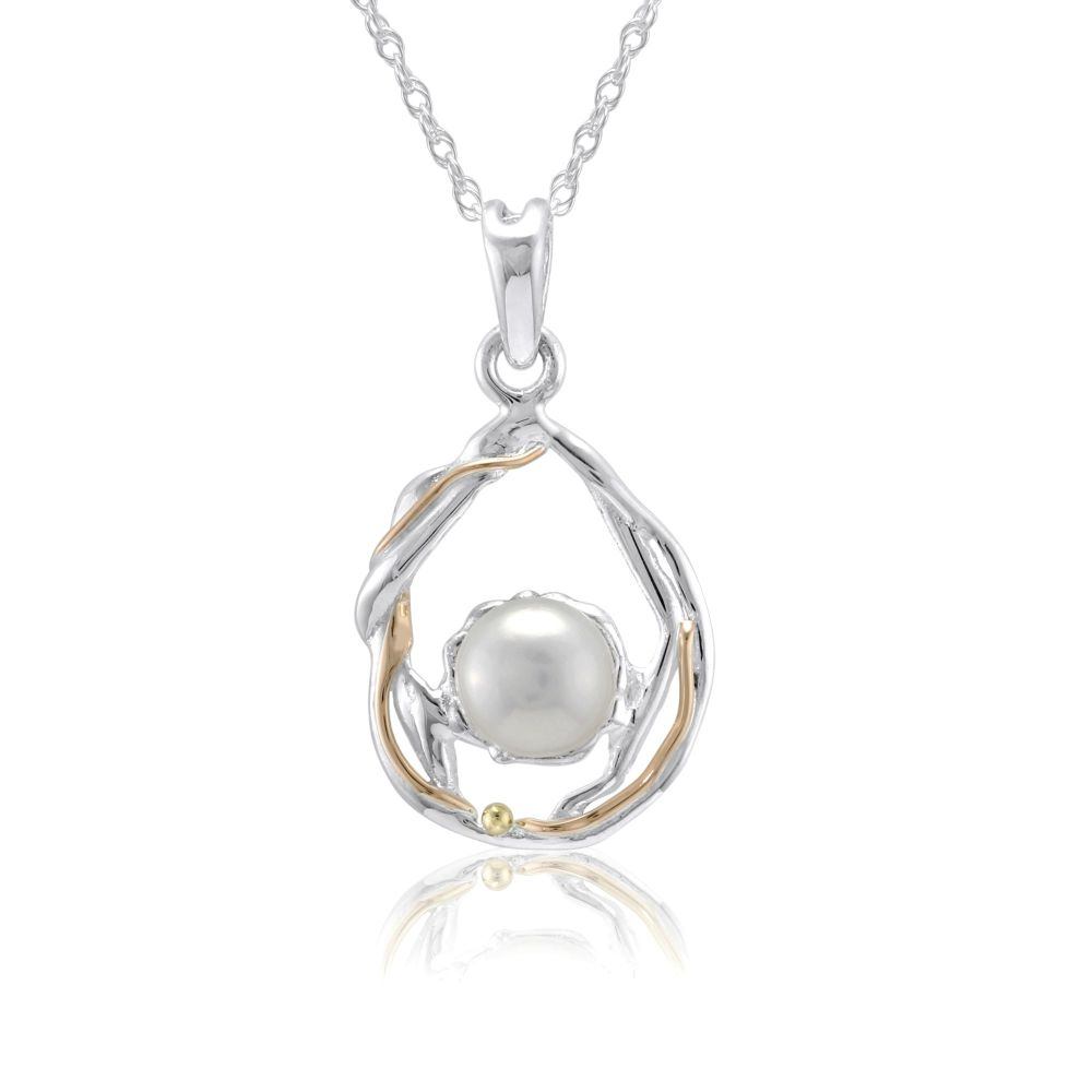 Pendant in Silver with Pearl. Item YZ017