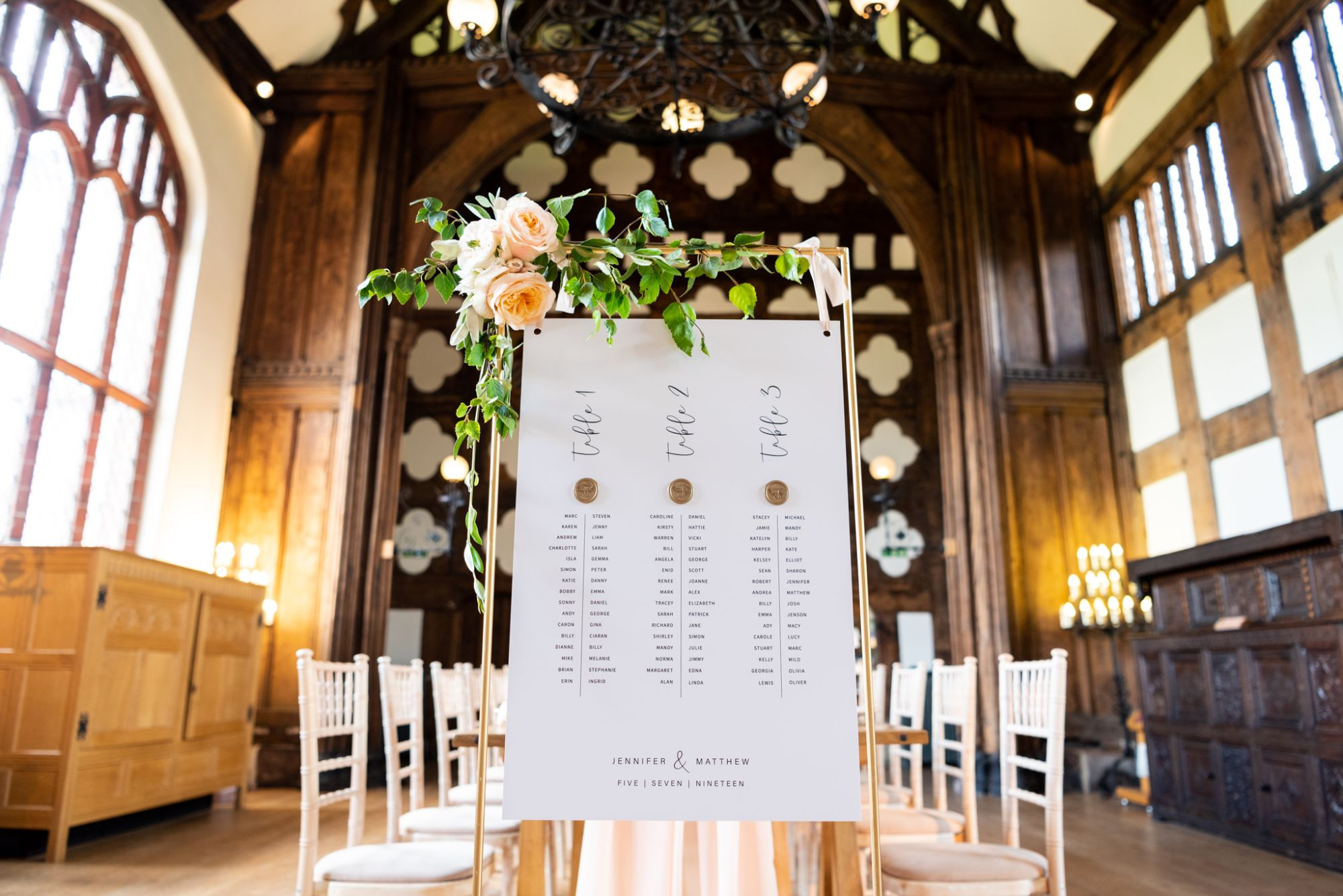 luxury table plan from Lucy Mc Spirit Design