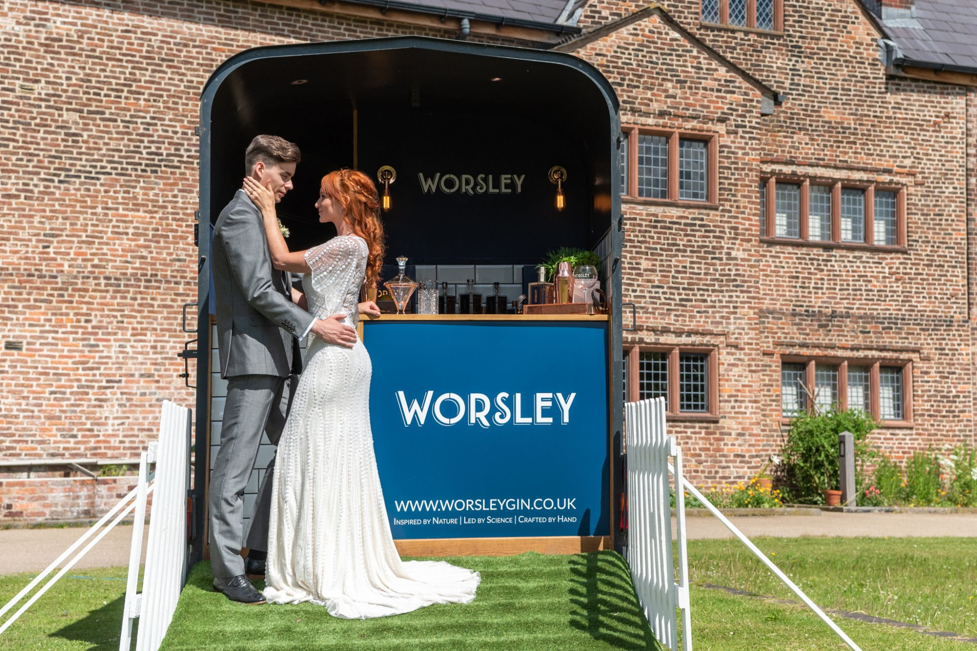 wedding horse box from Worsley Gin