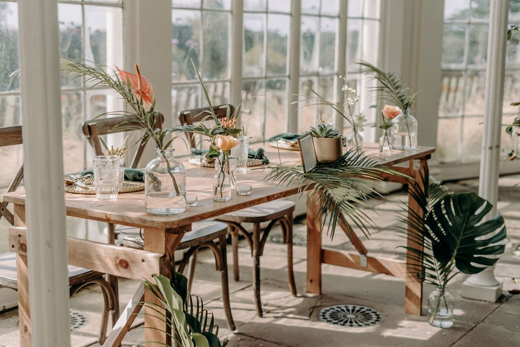 tropical romance wedding