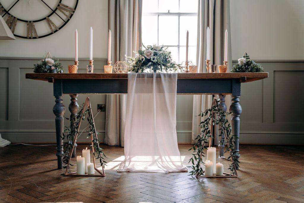 wedding ceremony table decor