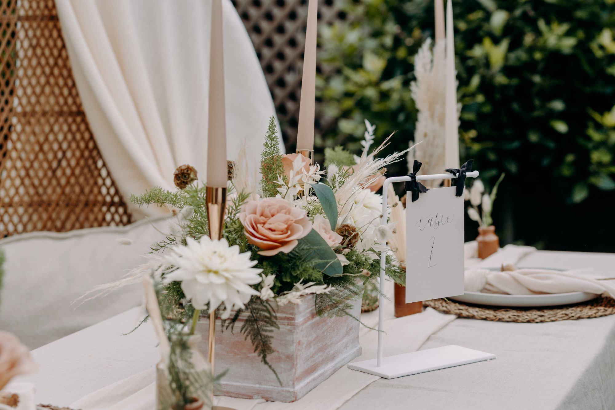 luxury wedding table decor